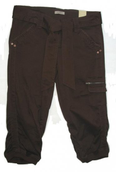 ARIZONA Rust Brown Juniors Capri Pants Sz 11 NEW $34