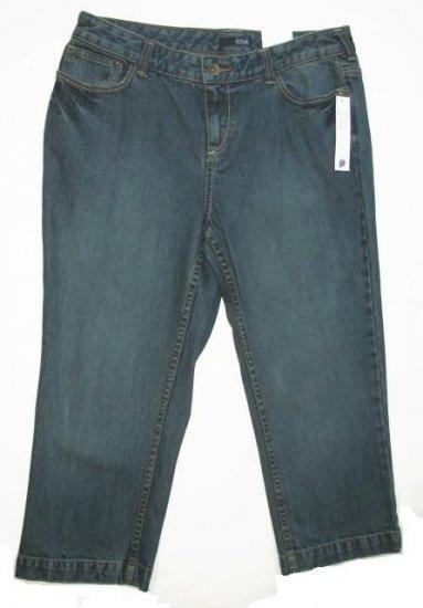 ANA Denim Capri Pants 16 Petite NEW $32