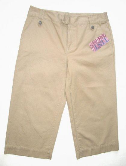 TINT Tan Khaki Capri Pants Sz 8 NEW $40
