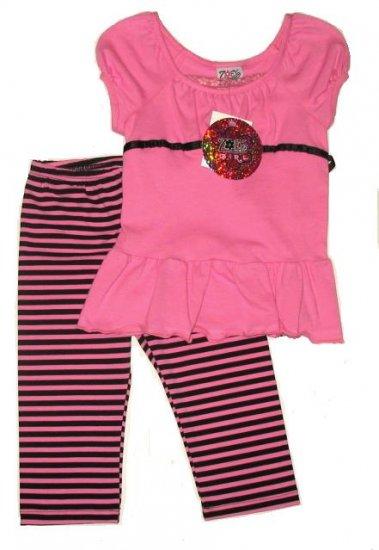 ZOEY GIRL 2pc Set Leggings Top Pink 4 NEW $35