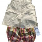 OLD NAVY Cream Plaid 2pc Set 3-6 Mo NEW