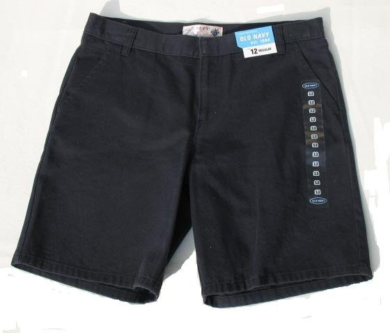 OLD NAVY Navy Blue Uniform School Shorts Girls 12 R NEW
