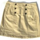 JONESWEAR Santa Cruz Tan Khaki Button Skirt 4 NEW $44
