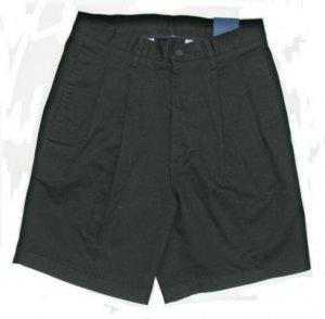 OLEG CASSINI Casuals Mens Black Twill Shorts 32 NEW