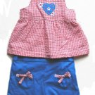 OKIE DOKIE Girls July Patriotic 2pc Tank Shorts Set 12 Mo NEW