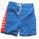 DISNEY Boys Blue Tigger Board Shorts 3 6 Mo NEW