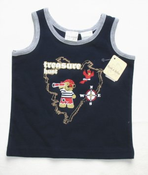 PEEK A BABE Boys Treasure Tank Top 3 6 Mo NEW