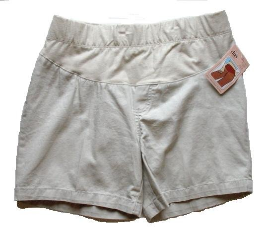 DUO Light Tan Khaki Maternity Shorts M NEW