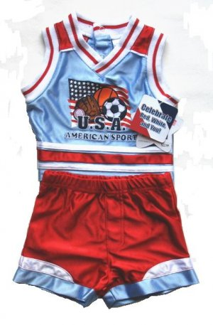 BABY TOGS Boys Sports Jersey Shorts Outfit Set 6 9 Mo NEW