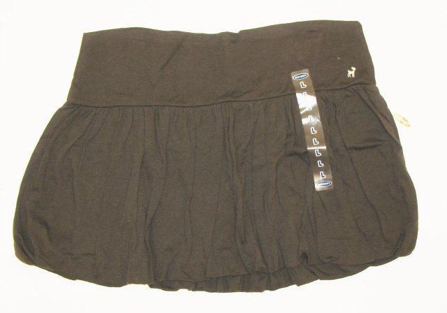 OLD NAVY Womens Brown Hipster Bubble Mini Skirt L NEW