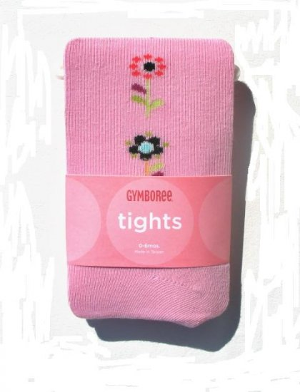 GYMBOREE Imaginary Friends Girls Pink Flower Tights 0 3 6 Mo NEW