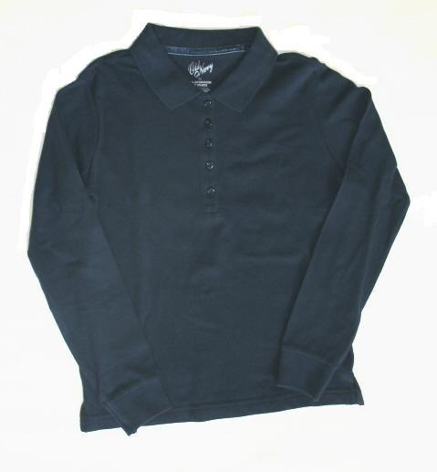 OLD NAVY Girls Blue Long Sleeve LS Polo Shirt Top XL 12 14 NEW