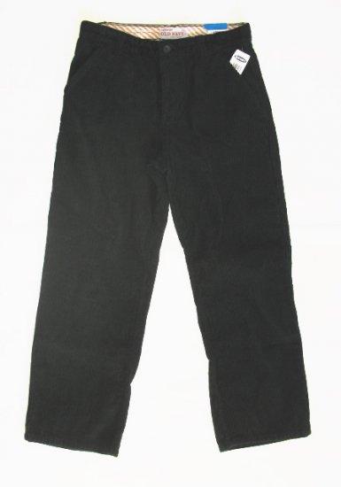 OLD NAVY Boys Black Corduroy Pants 14 Husky NEW