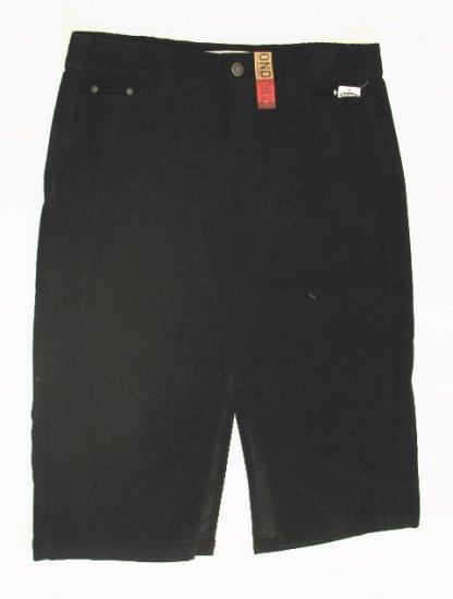 OLD NAVY Womens Plus Black Corduroy Long Skirt 22 NEW