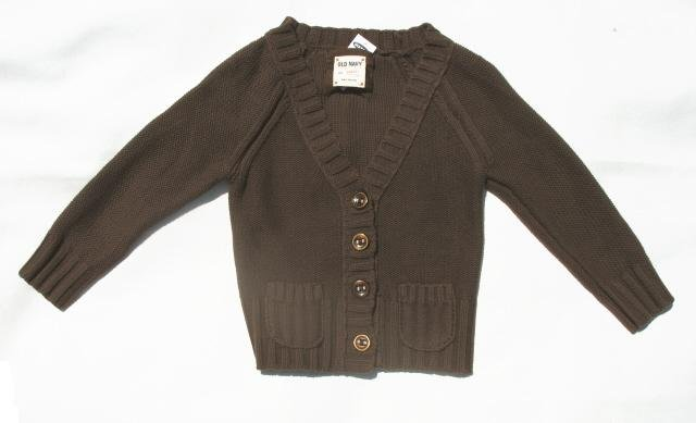 OLD NAVY Womens Brown 3/4 Sleeve Sweater Cardigan S 4 6 NEW
