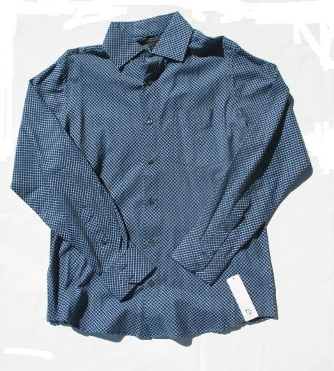 APT 9 Mens Blue LS Button Front Shirt L NEW