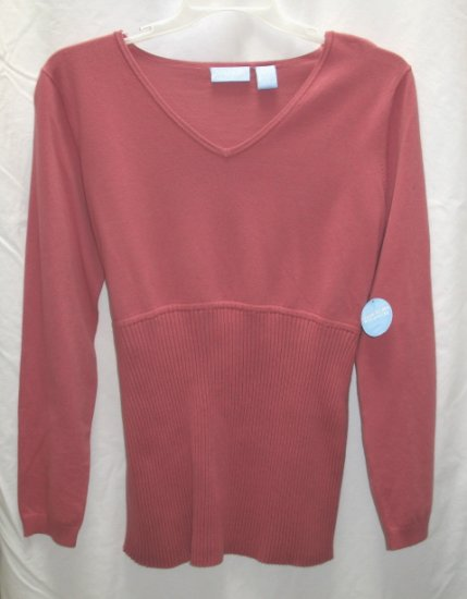 SOON TO BE Salmon Ribbed Maternity Sweater L 12 14 NEW