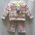 DISNEY Girls Pooh 3pc Outfit Set Pink Cord Pants Hoodie Sweater 12 Mo NEW