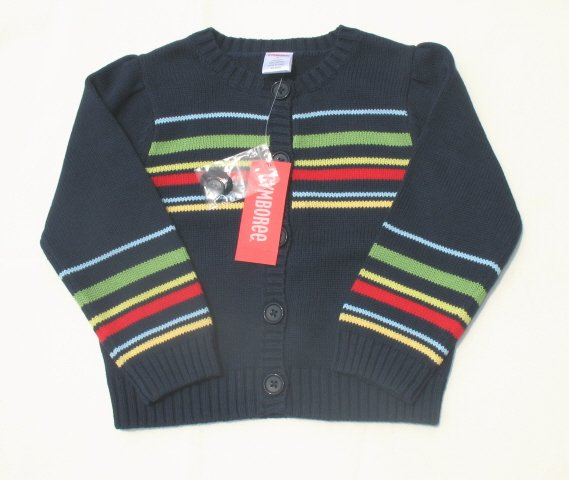 GYMBOREE Wish You Were Here Girls Navy Cardigan Sweater 4 NEW