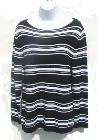 EAST 5TH Womens Navy White Stripe Sweater L 12 14 NEW
