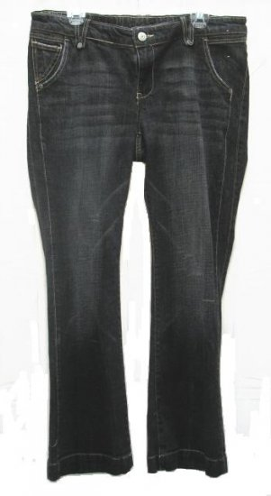 OLD NAVY Maternity Black Charcoal Stretch Jeans 12 NEW