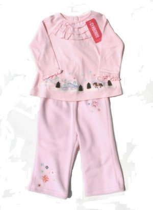 GYMBOREE Park City Luxe Girls 2pc Fleece Pants Swing Top Outfit Set 12 18 Mo NWT NEW