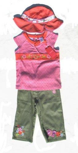 GYMBOREE Tea Garden Girls 3pc Crop Pants Top Hat 5 NWT NEW