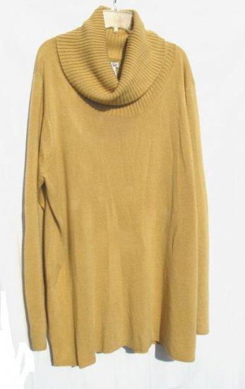 EAST 5TH Womens Plus Tan Turtle Neck Sweater 2X XXL 20 22 NWT NEW
