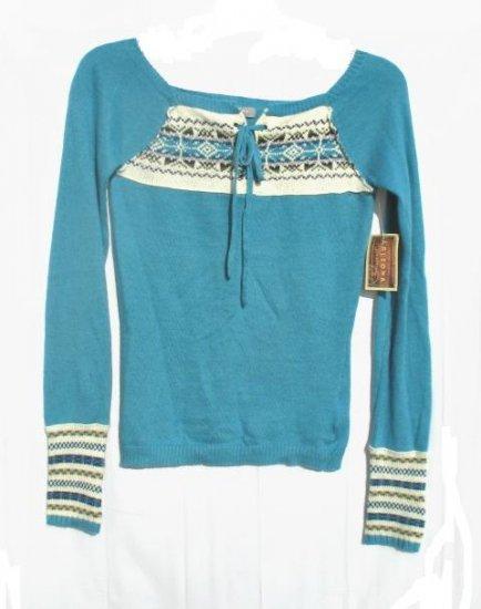 ARIZONA Juniors Aqua Angora Sweater S 3 5 NWT NEW