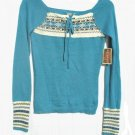 ARIZONA Juniors Aqua Angora Sweater S 3 5 NWT NEW