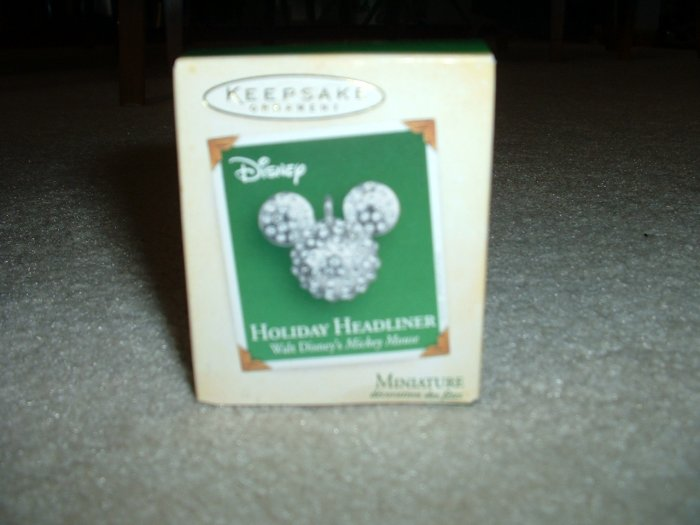 Mickey Mouse Sparkling Holiday Miniature Ornament