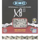"KMC Multi 8 Speed Bushingless Bicycle Chain 1/2"" x 3/32"" X8.93 Stretch Proof"