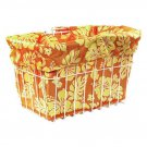 Bicycle Riding Basket Liner Only Croozer Candy Hibiscus 14 Yellow/Orange New