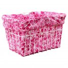 Bicycle Riding Basket Liner Croozer Candy Hawaiian 14 Pink New