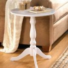 White Pedestal Accent Table