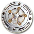 NYCPARTS TRIPLE CHROME CARRIES GSXR 1000 1996-2003 CHROME 4 HOLE DESIGN GAS CAP W/ SS HARDWARE