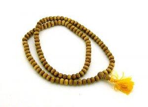 Grade A Natural Sandalwood Mala 108 8mm beads