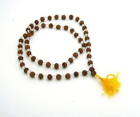 Rudraksha and Crystal Mala 108 Beads