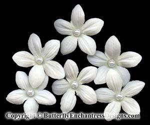 6 Creamy White Stephanotis Flower Bridal Hair Pins Wedding