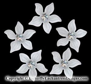 5 Swarovski Crystal Rhinestone Zara Flower Bridal Hair Pins Wedding