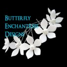 6 Pearl White Stephanotis Flower Bridal Hair Pins Wedding