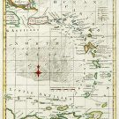 New Map Caribbee America Caribbean West Indies canvas Thomas Kitchin