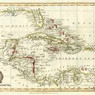 Caribbean West Indies Caribbean map 1816 by Barlow