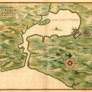Santiago Bay Cuba Cuban Caribbean map 1639 by Joan Vingboons