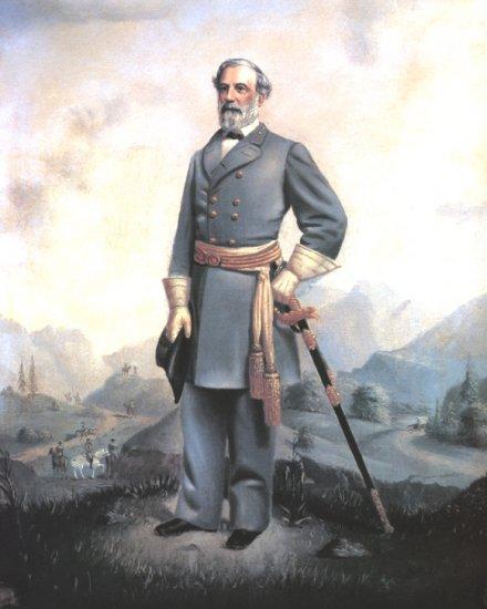 Portrait Of General Robert E Lee Civil War Canvas Art