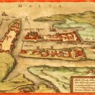 Amsterdam Holland Map 1572 by Braun and Hogenberg