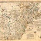 North America United States map 1776 by Thomas Jefferys