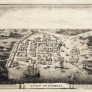 Santo Domingo Hispaniola Dominican Republic Caribbean map 1755 by Fritzsch