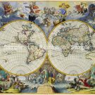 World map 1683 by Johannes De Ram