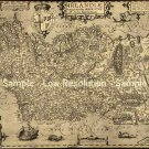 Ireland Irish canvas map 1606 by Boazio